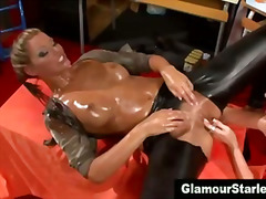 satin, classy, lesbian, fetish, european, fingering, clothed, glamour