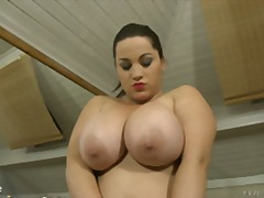 brunette, solo, nipples, natural tits, big tits, chubby, boobs