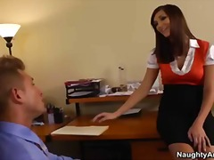 ass, brunette, heels, boobs, boss, big-tit, office, secretary, naughty-america, holly