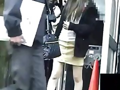 гащички, къса пола, японки, воайор, азиатки