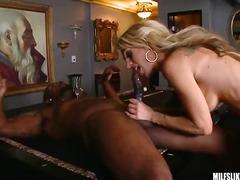 blonde, milf, interracial, big-black-cock, big-tits, hardcore, rough