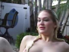 блондинки, бикини, сред природата, басейн