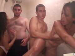 аматьори, яко ебане, брюнетки, парти, групов секс