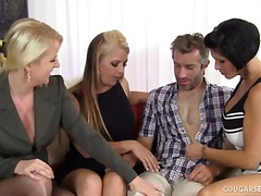 oral, hardcore, milf, 4some, sex-toys, group, cougar, lingerie-videos.com, blowjob