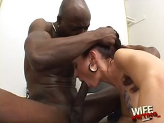 sucking, oral, cock-riding, blow, big-tits, jizz, brunette, black, ball-licking, blowjob