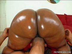 lesbisch, arsch, anal, gesicht, arschlecken, ebenholz, große brüste, großer arsch, schwarz