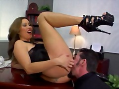 hardcore, ass-licking, heels, femdom, fetish, pussy-eating, oral, ass, foot-fetish, office