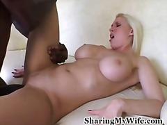 междурасово, блондинки, големи цици, голям кур
