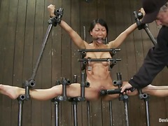 slave, chained, fetish, bdsm, shaved, orgasm, asian, humiliation