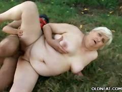 granny, couple, outdoors, mature, bbw, hardcore