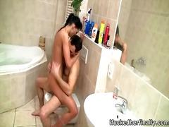 червенокоси, душ, орално, баня, брюнетки