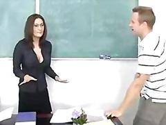 учител, милф, големи цици, на лицето