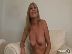 mother, blonde, interview, natural-breasts, mom, milf, old, strip, busty, shaved