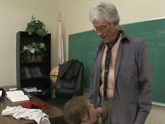 older, school, daddy, cock-riding, old, young, classroom, younger, teacher, face-fucking