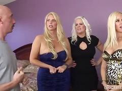 doigts, hardcore, pipes, femmes mûres, blondes