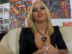 blonde, nylon, fetish, tattoo, smoking, blowjob, pornstar