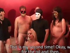 групов секс, на лицето, масов секс, испанки
