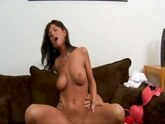 blow, shaved, deepthroat, milfsoup, room, fake, licking, friend, living, couch