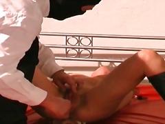 sklave, angebunden, brünette, bondage, nippel, masturbationen, rollenspiele, fetish