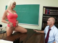 deepthroat, blowjob, schoolgirl, uniform, blonde, hardcore