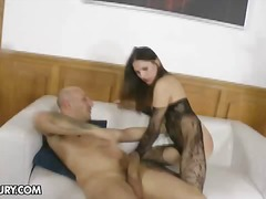 anal, brünette, babe, nylons, pornostar, arsch, hardcore