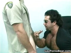 sucking, oral, gay, uniform, bear