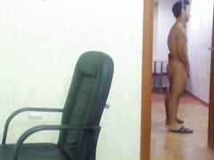 webkamera, maszturbálás, kigyúrt, szóló, melegek