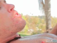 gay, anal, draußen, blowjob, brünette, geiler hengst, gut gebaut, babe, hardcore
