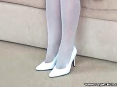 чорапи, азиатки, високи токчета