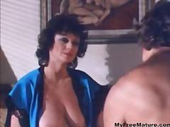 große brüste, pussy, oral, vintage, brünette