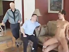 съпруга, порно звезди, трио, свирки, групов секс