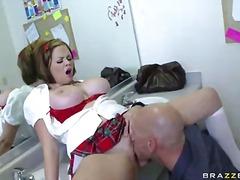 schule, blowjob, natürliche brüste, monstercock, pussy, pornostar, große brüste, uniform