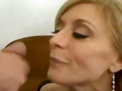 anal, reif, cumshot, seidenstrümpfe, schlucken, blond, milf