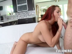 oral, sucking, classy, lick, brazzers, eyes, mature, blow, partyhardcore, redhead