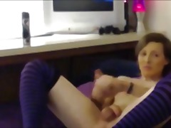 crossdressing, masturbation, homemade, toys, dildo