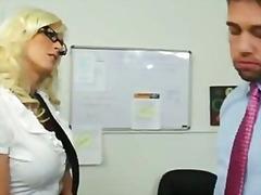 tits, shaved, secretary, tattoo, fucking, blonde, heels, big, lick, busty