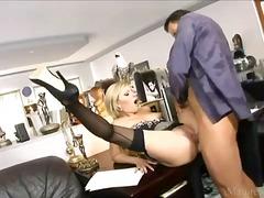 secretary, hardcore, lingerie