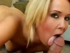 blond, arsch, titten, schlucken, anal, pov
