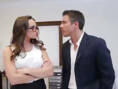 office, secretary, brunette, boss, naughty, glasses, blowjob, busty