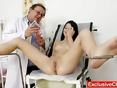 bizarre, internal, pussy, exam, gyno, clinic, vagina, closeup, cervix, enema