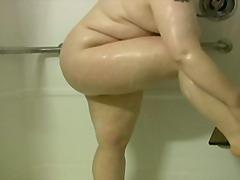 spielzeug, große dicke frauen, dusche