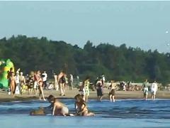 публично, аматьори, плаж