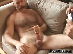 bear, masturbation, cumshot, big, solo, cock, mature