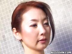 душ, космати, японки