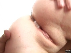 titten, hardcore, double penetration, großbusig, bett, blowjob, deepthroat, group