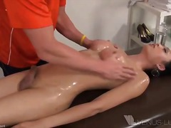 orgasm, doggy-style, bareback, fucking, rough, penetration, oil, ride, spooning, asian