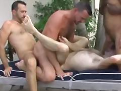輪姦, アナル, アナル舐め, 野外セックス, 黒い肌, 二穴同時挿入