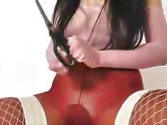 rakad, internt, fetisch, klitoris, babe, nylon, brunett, klitta, insättning, fitta