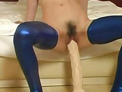 fisting, pussy, monster, flashing, sex toy, black, heels, toy, dildo, pee