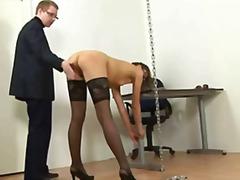humiliation, wanking, foot fetish, squirt, fishnet, smoking, flashing, uniform, heels, spank